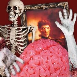 Halloween Dekoration: Abgehackte Beine, Arme & Hände, Skelette, Grabsteine, Tiere, Kerzen etc,