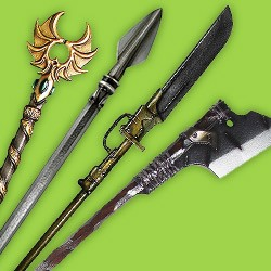 Spears, lances and naginata for LARP