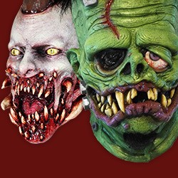 masks of mutants creatures - Scary Halloween Masks Images