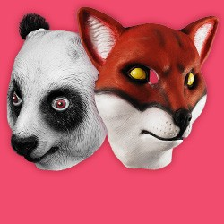 Animal Masks Made of Foam Latex. PVC or Vinyl