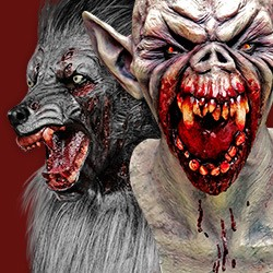 Werwolf- & Vampirmasken