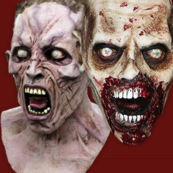 masks of zombies skeletons undead