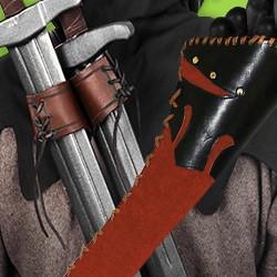 LARP Waffen Zubehör für Pfeile und andere Polsterwaffen aus echtem Leder, Fertigung in Handarbeit für zuverlässige Qualität und ansprechende Optik!