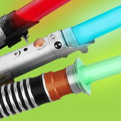 Official Star Wars lightsabers with special FX – the weapon of Darth Vader, Luke Skywalker, Obi-Wan Kenobi, and many other Star Wars characters.