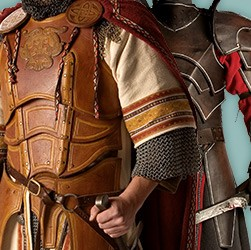 Handcrafted leather armor for LARP in top production quality, some from our own in-house unit. Medieval or fantasy designs.