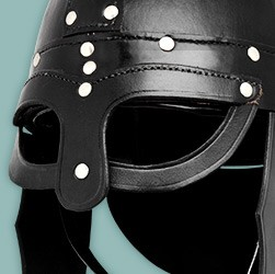 Buy helmets made of genuine leather, in appealing designs, conveniently and securely in the LARP shop at maskworld.com.