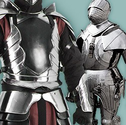 Whether a suit of armor for a knight or the metal armor of your fantasy, we have handcrafted metal armor made of carbon steel or bronze in top quality.