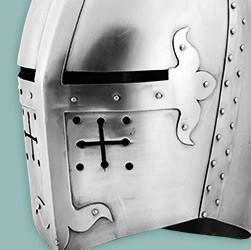Large selection of top quality helmets made of metal, original movie replicas or historically accurate reproductions!