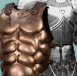 From a hoplite breastplate or a lorica segmentata  to a mail shirt – we have an extensive range of cuirasses and breastplates made of metal for your armor.