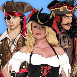 Piratenkostüm, Piratenkostüm Damen, Piratinnen Kostüm, Seeräuber Kostüm, Freibeuter Kostüm, Piratin Kostüm, Piratenkostüm kaufen