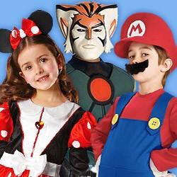 Cartoon-, Game- & Comic-Kinderkostüme