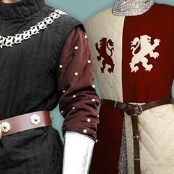 Mittelalterliche & Historische Gambesone, Gambesons & Brigantinen
