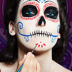 dia de los muertos party kost me masken make up jetzt entdecken. Black Bedroom Furniture Sets. Home Design Ideas
