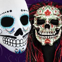 Dia de los Muertos Maske, Dia de los Muertos Maske kaufen, Dia de los Muertos Halloween Maske, Sugar skull Maske, Candy SKull Maske, Sugar Skull Maske kaufen, Tag der Toten Mexiko Masken, Tag der Toten Maske kaufen, Calavera Maske, Totenkopf Maske