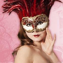 Original Venezianische Masken - Federmasken