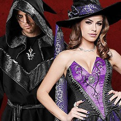 Halloween Hexen Kostüme kaufen, Hexe Kostüm Shop, sexy Hexe Kostüm, Hexen Kostüme Damen, Hexer Kostüm, Zauberer Kostüm, dunkler Zauberer Kostüm, Zauberer Kostüm Herren