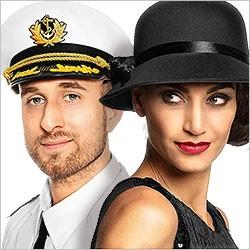 Faschingshüte, Karnevalsmützen, Hüte, Mützen, Kopfschmuck für Kostümideen
