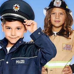 Polizei- und Feuerwehrkostüme für Kinder