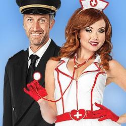 Faschingskostüme für Damen, Kostüme Fasching, Berufe Kostüme, Beruf Kostüm, Krankenschwester Kostüm, Arzt Kostüm, Polizei Kostüm