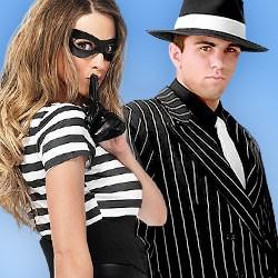 Faschingskostüme, Mafia Kostüm, Gangster Kostüm, Kostüme Fasching, Sträfling Kostüm, Häftling Kostüm