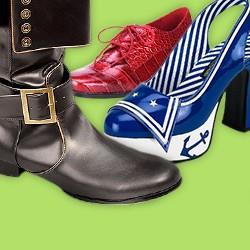 Kostümschuhe, Faschingsschuhe, Karneval Schuhe, Schuhe für Kostümideen
