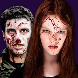 Blut, Kunstblut, Filmblut, Theaterblut, Bluteffekte, Horroreffekte, Blutkapseln & Bluteffekte