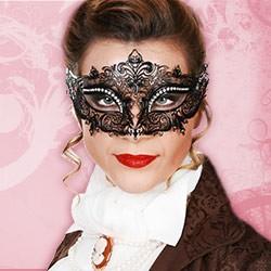 Venezianische Masken aus Metall