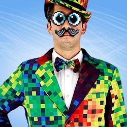 Bunte Party Anzüge - witzig, bunt, lustig, auch mit Pailletten