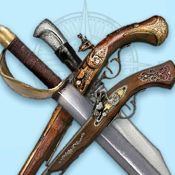 Pirate sabers & pirate guns – buy pirate weapons