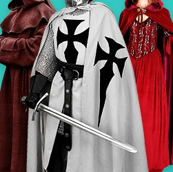 Medieval & Historical Robes. Cloaks & Capes