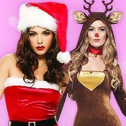Sexy Kostüme zu Weihnachten
