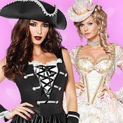 Sexy Kostüme für Piraten & Edeldamen