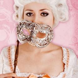 Original Venetian Carnival Masks - Stick Masks