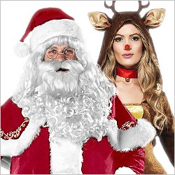 Christmas Costumes for Angels, Mrs. Santa and Beards for Santa Claus