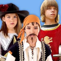 Ritter- & Piratenkostüme für Kinder