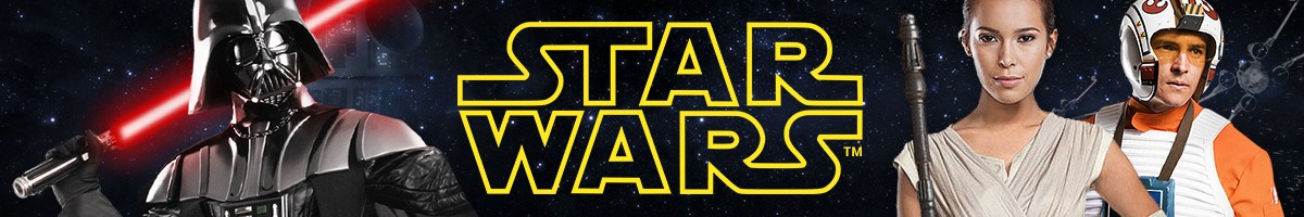 Star Wars Kostüme, Darth Vader Kostüm, Rey Kostüm, Lichtschwert, C3PO