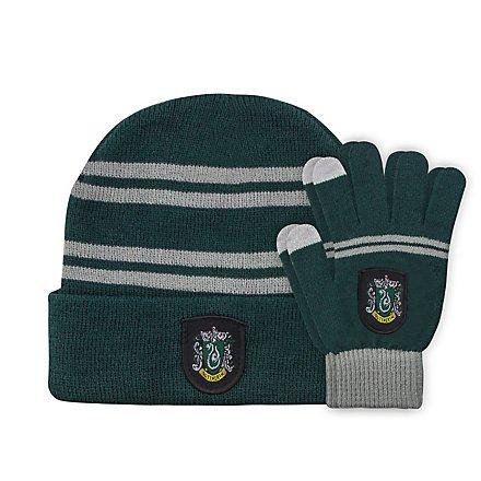 Harry Potter - Kids Beanie & Handschuhe Set Slytherin