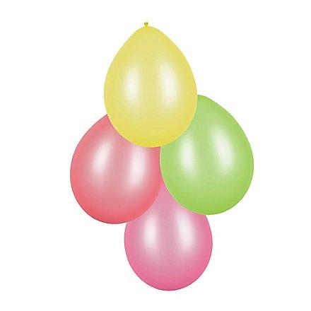Luftballons neon 8 Stück