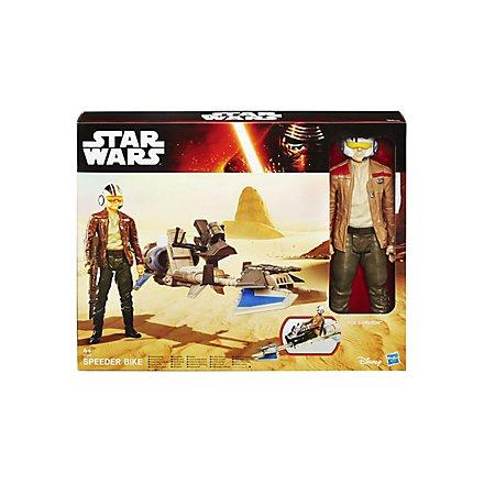 Star Wars Figuren-Set Poe Dameron mit Speeder