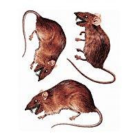 3D Ratten Sticker-Set Halloween Deko
