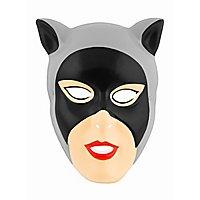 Catwoman Kindermaske aus Kunststoff