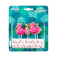 Flamingo & Ananas-Kerzen 5 Stück