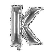 Folienballon Buchstabe K silber 36 cm