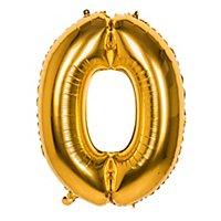 Folienballon Zahl 0 gold 86 cm