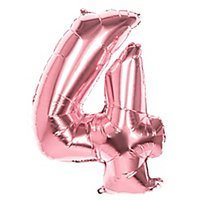 Folienballon Zahl 4 rosegold 86 cm