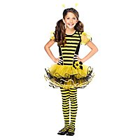 Gestreifte Strumpfhosen gelb-schwarz für Kinder