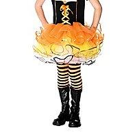 Gestreifte Strumpfhosen orange-schwarz für Kinder