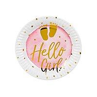 Hello Girl! Pappteller 6 Stück
