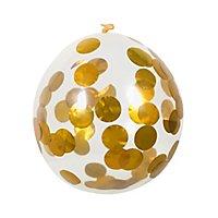 Konfettiballon gold 5 Stück