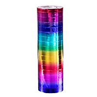 Luftschlangen Regenbogen metallic 2 Stück